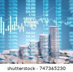 graph coins stock finance and... | Shutterstock . vector #747365230