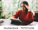 Portrait Of Sad Young Woman...