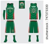 basketball uniform template... | Shutterstock .eps vector #747373330