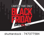 black friday sale. abstract... | Shutterstock .eps vector #747377584