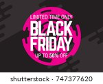 black friday sale. abstract... | Shutterstock .eps vector #747377620