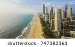 gold coast beach coastline | Shutterstock . vector #747382363
