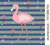flamingo | Shutterstock .eps vector #747388753
