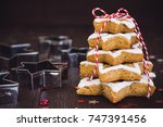 christmas cookie tree made with ...   Shutterstock . vector #747391456