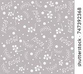 winter seamless pattern   Shutterstock .eps vector #747392368