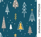 merry christmas seamless... | Shutterstock .eps vector #747396268