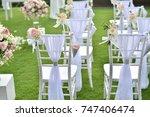 wedding setup | Shutterstock . vector #747406474