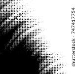 grunge vector background from... | Shutterstock .eps vector #747417754