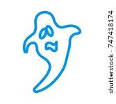 boo icon | Shutterstock .eps vector #747418174
