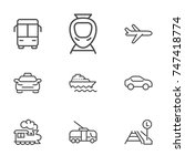 transportation line icon... | Shutterstock .eps vector #747418774