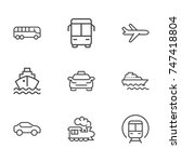 transportation line icon... | Shutterstock .eps vector #747418804