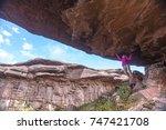 trekking mount roraima in... | Shutterstock . vector #747421708
