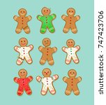 Set Of Christmas Gingerbread...