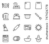 thin line icon set   cafe ... | Shutterstock .eps vector #747426778