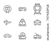 transportation line icon... | Shutterstock .eps vector #747433918