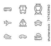 transportation line icon... | Shutterstock .eps vector #747433960