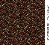 ethnic boho seamless pattern in ... | Shutterstock .eps vector #747435124