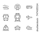 transportation line icon... | Shutterstock .eps vector #747435514