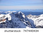 alps  view from mt. titlis in... | Shutterstock . vector #747440434