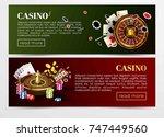 casino poker web banners... | Shutterstock .eps vector #747449560