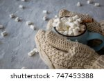 christmas and new year cozy... | Shutterstock . vector #747453388