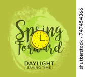 daylight saving time poster or... | Shutterstock .eps vector #747454366
