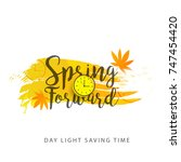 daylight saving time poster or... | Shutterstock .eps vector #747454420