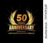 50 years design template.... | Shutterstock .eps vector #747459169