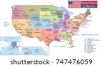 states capitals and major... | Shutterstock . vector #747476059