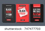 black friday sale design... | Shutterstock .eps vector #747477703
