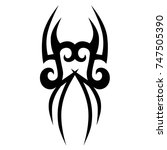 tattoo tribal designs. sketched ... | Shutterstock .eps vector #747505390