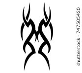 tattoo tribal designs. sketched ... | Shutterstock .eps vector #747505420