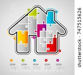 five options real estate... | Shutterstock .eps vector #747515626