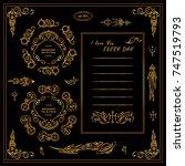 vector sign  symbols for frames ... | Shutterstock .eps vector #747519793