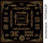 vector sign  symbols for frames ... | Shutterstock .eps vector #747520129