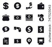 16 vector icon set   dollar ... | Shutterstock .eps vector #747525043