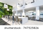 garden wall in office interior. ... | Shutterstock . vector #747525826