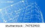 residence building design | Shutterstock .eps vector #74752903