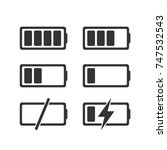 flat battery charge phases... | Shutterstock .eps vector #747532543