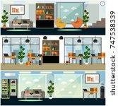 vector set of business posters  ... | Shutterstock .eps vector #747538339