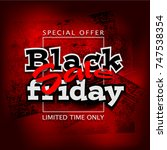 black friday sale background ...   Shutterstock .eps vector #747538354