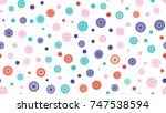 seamless round ornament pattern.... | Shutterstock .eps vector #747538594