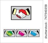 handshake logo  vector  icon | Shutterstock .eps vector #747540358