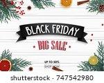 vector illustration of black... | Shutterstock .eps vector #747542980