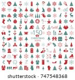 christmas  new year holidays... | Shutterstock .eps vector #747548368
