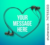 innovative vector music... | Shutterstock .eps vector #747553333
