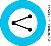 share button blue black icon