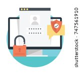 flat design vector about... | Shutterstock .eps vector #747561910