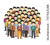 asian men community vector... | Shutterstock .eps vector #747563188