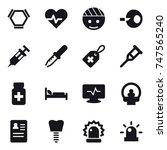 16 vector icon set   hex... | Shutterstock .eps vector #747565240